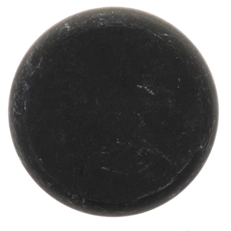ほうき特に八天然石ホットストーン マッサージ用玄武岩 マッサージストーン ボディマッサージ 実用的 全2サイズ - ブラック, 01