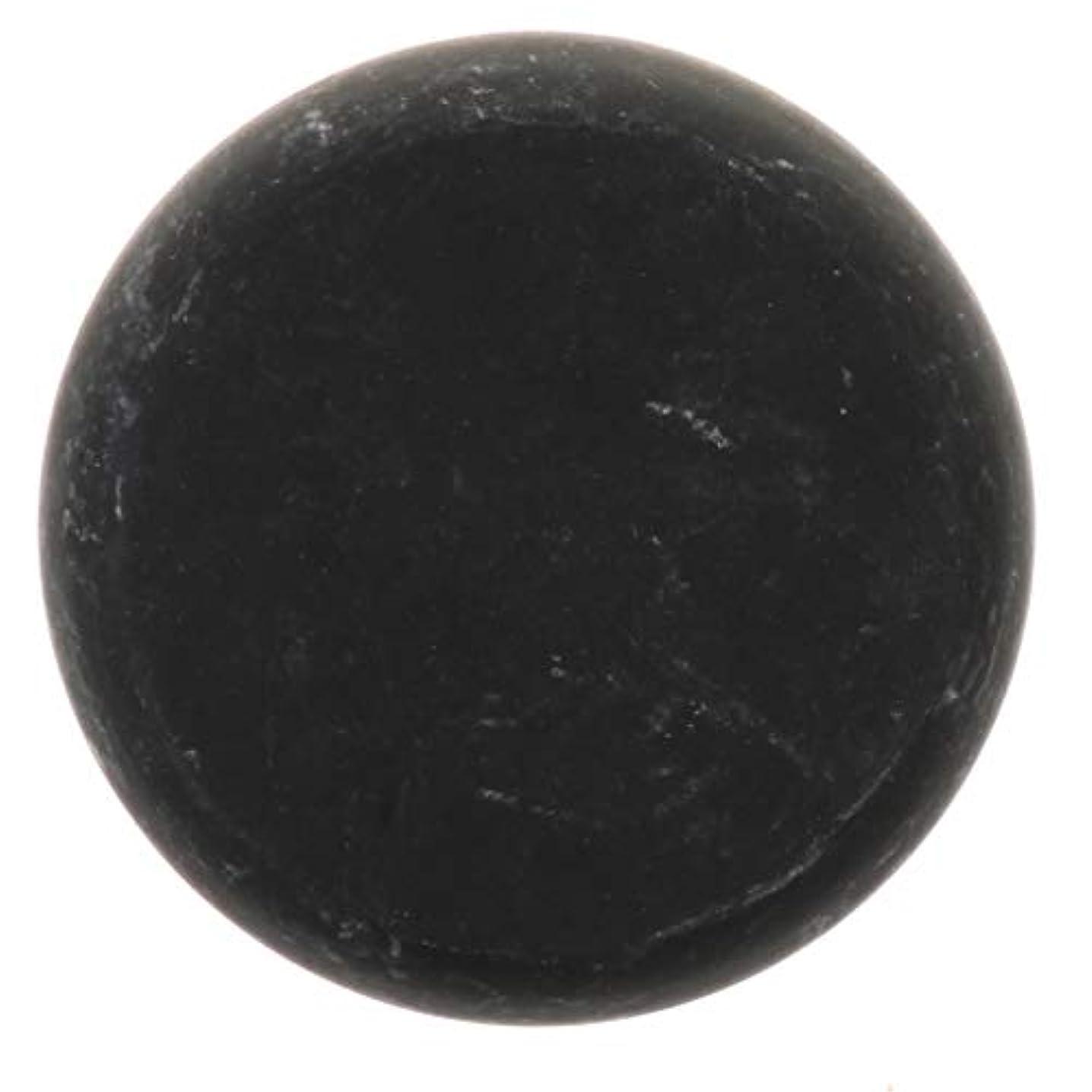 運営感じ周辺天然石ホットストーン マッサージ用玄武岩 マッサージストーン ボディマッサージ 実用的 全2サイズ - ブラック, 01