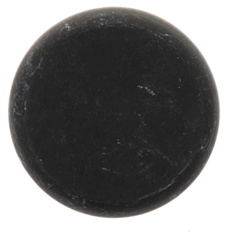 ミキサー過半数所持天然石ホットストーン マッサージ用玄武岩 マッサージストーン ボディマッサージ 実用的 全2サイズ - ブラック, 01