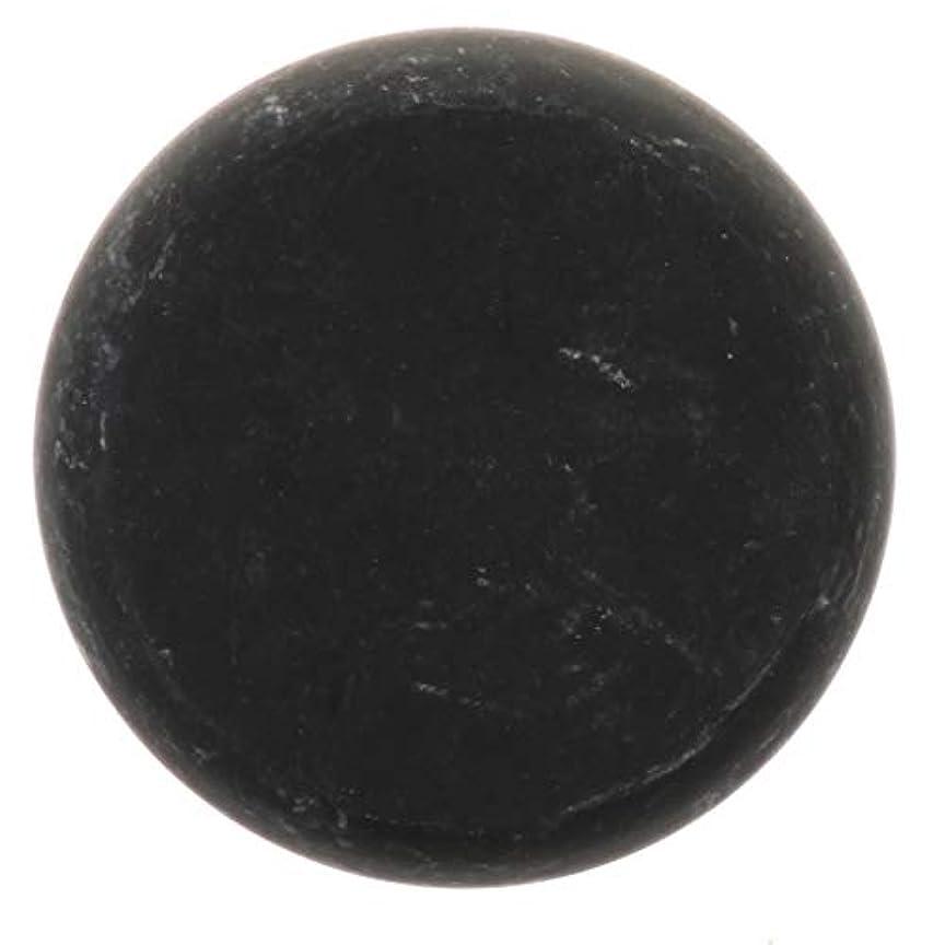 プレミアム弾性ペフFLAMEER 天然石ホットストーン マッサージ用玄武岩 マッサージストーン ボディマッサージ 実用的 全2サイズ - ブラック, 01