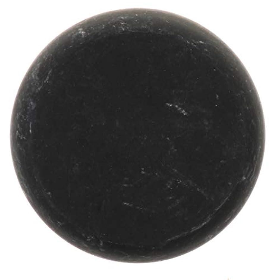FLAMEER 天然石ホットストーン マッサージ用玄武岩 マッサージストーン ボディマッサージ 実用的 全2サイズ - ブラック, 01