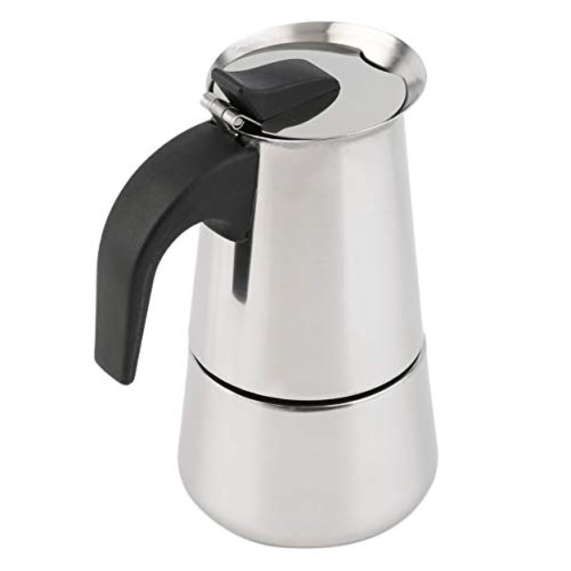 指受け入れ正気Saikogoods 2/4/6カップパーコレーターストーブトップのコーヒーメーカーモカエスプレッソラテステンレスポットホット販売 銀 6カップ