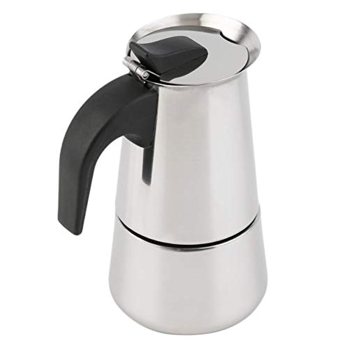 戦闘経験挑むSaikogoods 2/4/6カップパーコレーターストーブトップのコーヒーメーカーモカエスプレッソラテステンレスポットホット販売 銀 6カップ