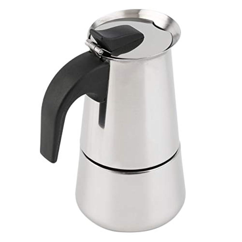 する再生的マトリックスSaikogoods 2/4/6カップパーコレーターストーブトップのコーヒーメーカーモカエスプレッソラテステンレスポットホット販売 銀 6カップ