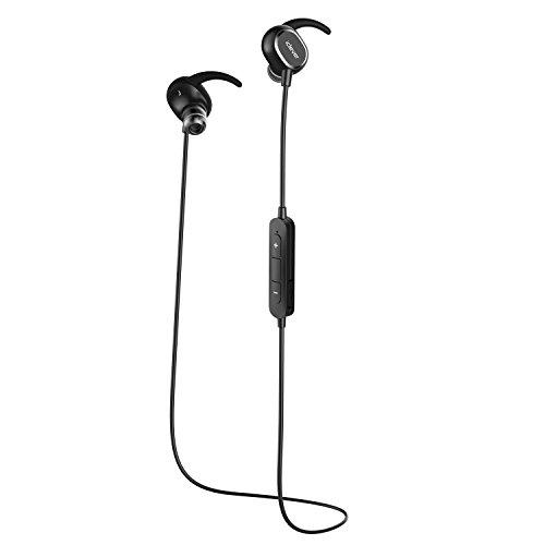 iClever Bluetooth イヤホン Bluetooth 4.1 スポーツ ヘッドフォン ワイヤレス ステレオ 防水 防汗 apt-X CSR8645 CVC 6.0 マイク 内蔵 ハンズフリー 通話 ( ブラック ) IC-BTH06