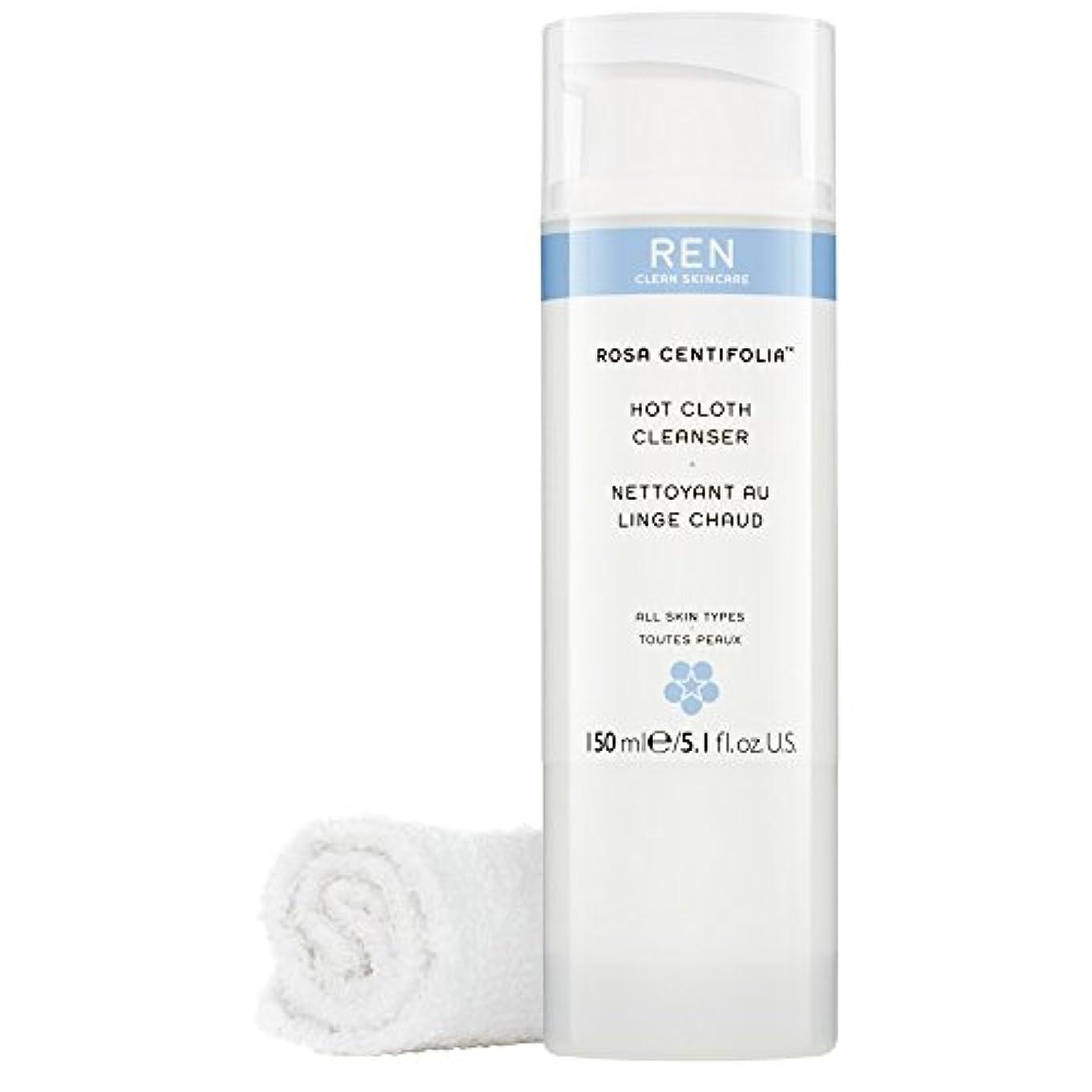 ブロック外部首Renローザセンチフォリアバラ?ホット布クレンザー、150ミリリットル (REN) (x6) - REN Rosa Centifolia? Hot Cloth Cleanser, 150ml (Pack of 6) [並行輸入品]