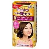【花王】ブローネ らく塗り艶カラー 5 ブラウン 100g ×3個セット