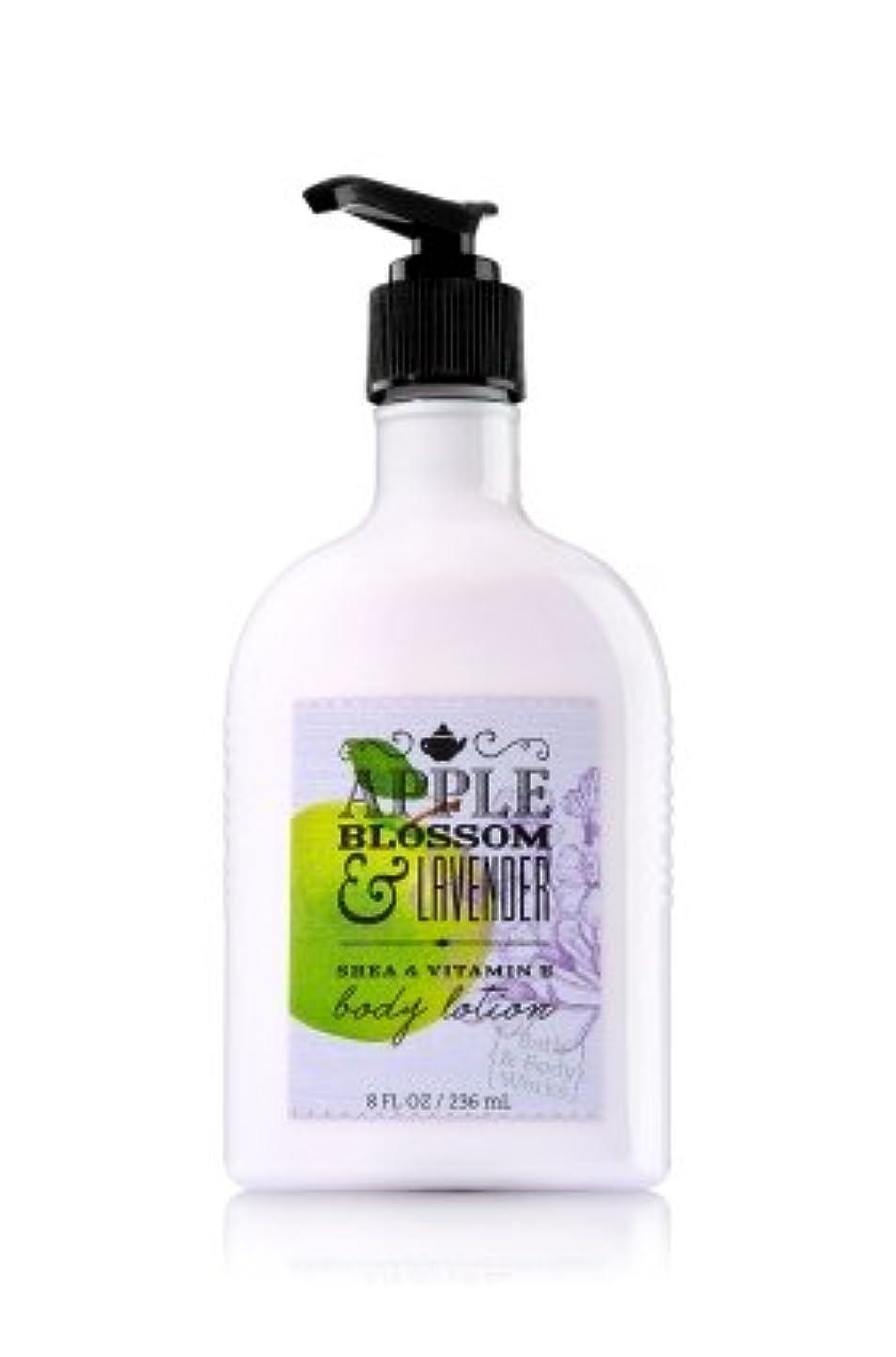 いじめっ子五十西部【Bath&Body Works/バス&ボディワークス】 ボディローション アップルブロッサム&ラベンダー Body Lotion Apple Blossom & Lavender 8 fl oz / 236 mL [並行輸入品]