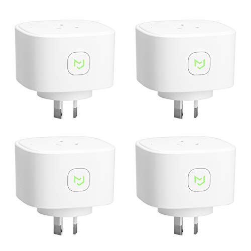 Meross WiFi Smart Socket Outlet Plug with Energy Monitor, App Control, with Timing Function, Compatible with Amazon Alexa Echo, Google Home and IFTTT, SAA & RCM Certified - 4 Pack