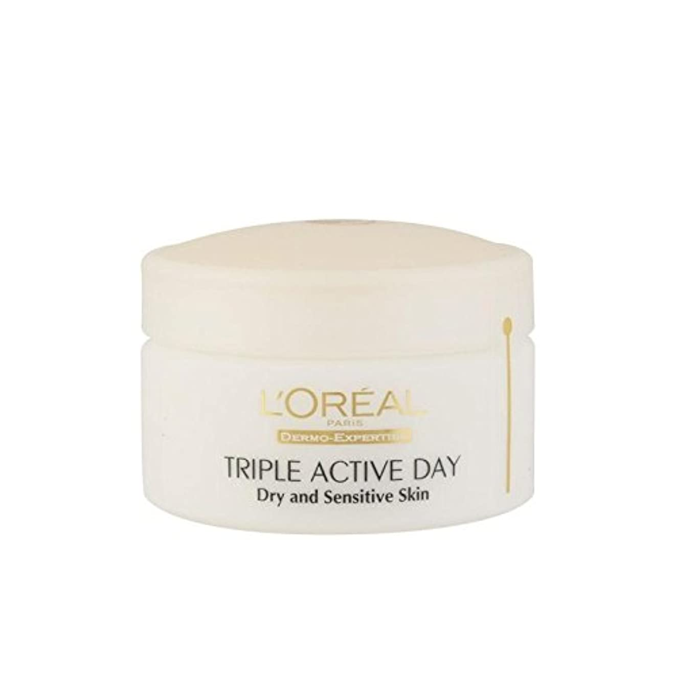 刈る前述の平らにするL'Oreal Paris Dermo Expertise Triple Active Day Multi-Protection Moisturiser - Dry/Sensitive Skin (50ml) - ロレアルパリ...