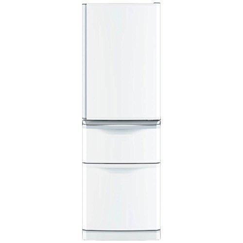 三菱 冷蔵庫 スリムタイプ 右開き 370L パールホワイト ...