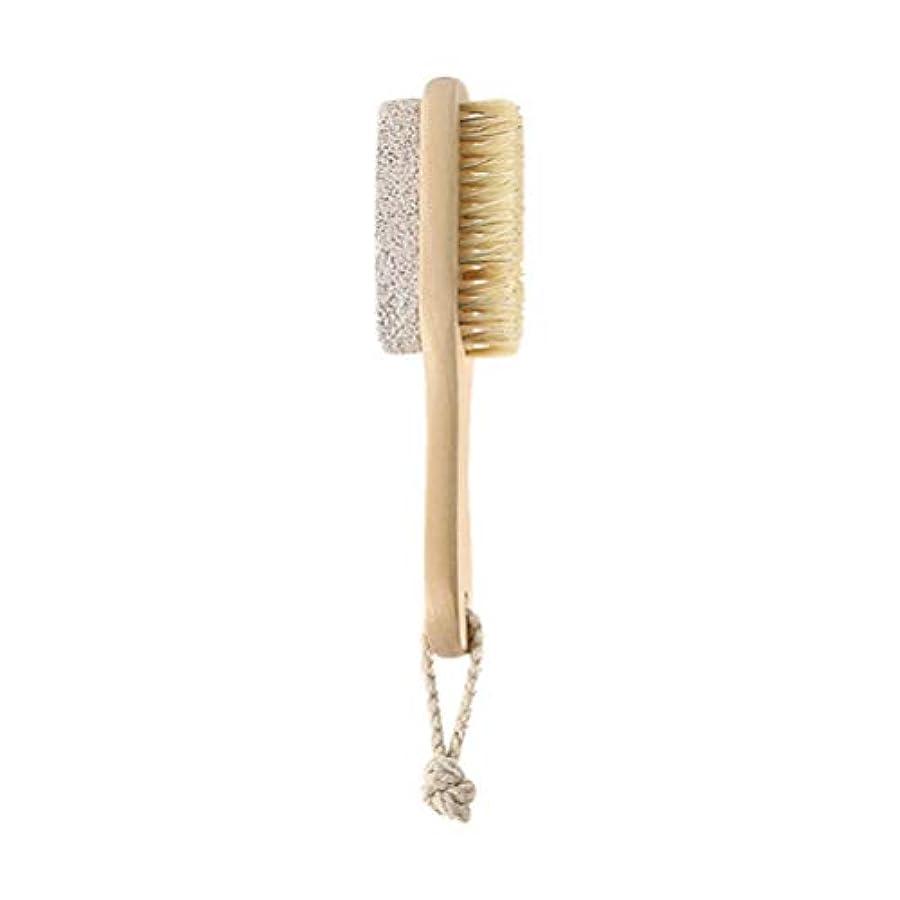 望むコメンテーターであることHEALIFTY 自然な毛の足のやすりやすりのブラシの軽石の石のカルスの除去剤木製のハンドルが付いている死んだ皮の除去剤