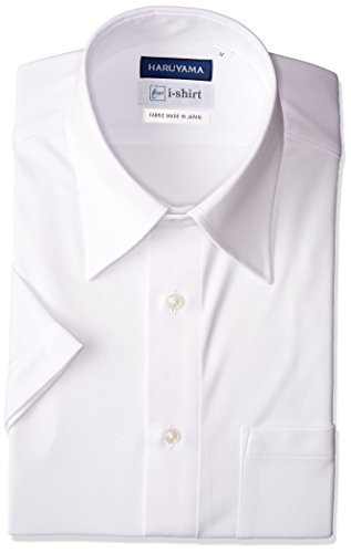 [ハルヤマ] i-shirt 【アマゾン別注】 ノーアイロン 半袖 レギュラーカラーアイシャツ メンズ M162180032 ホワイト 日本 LL(首回り43cm) (日本サイズXL相当)