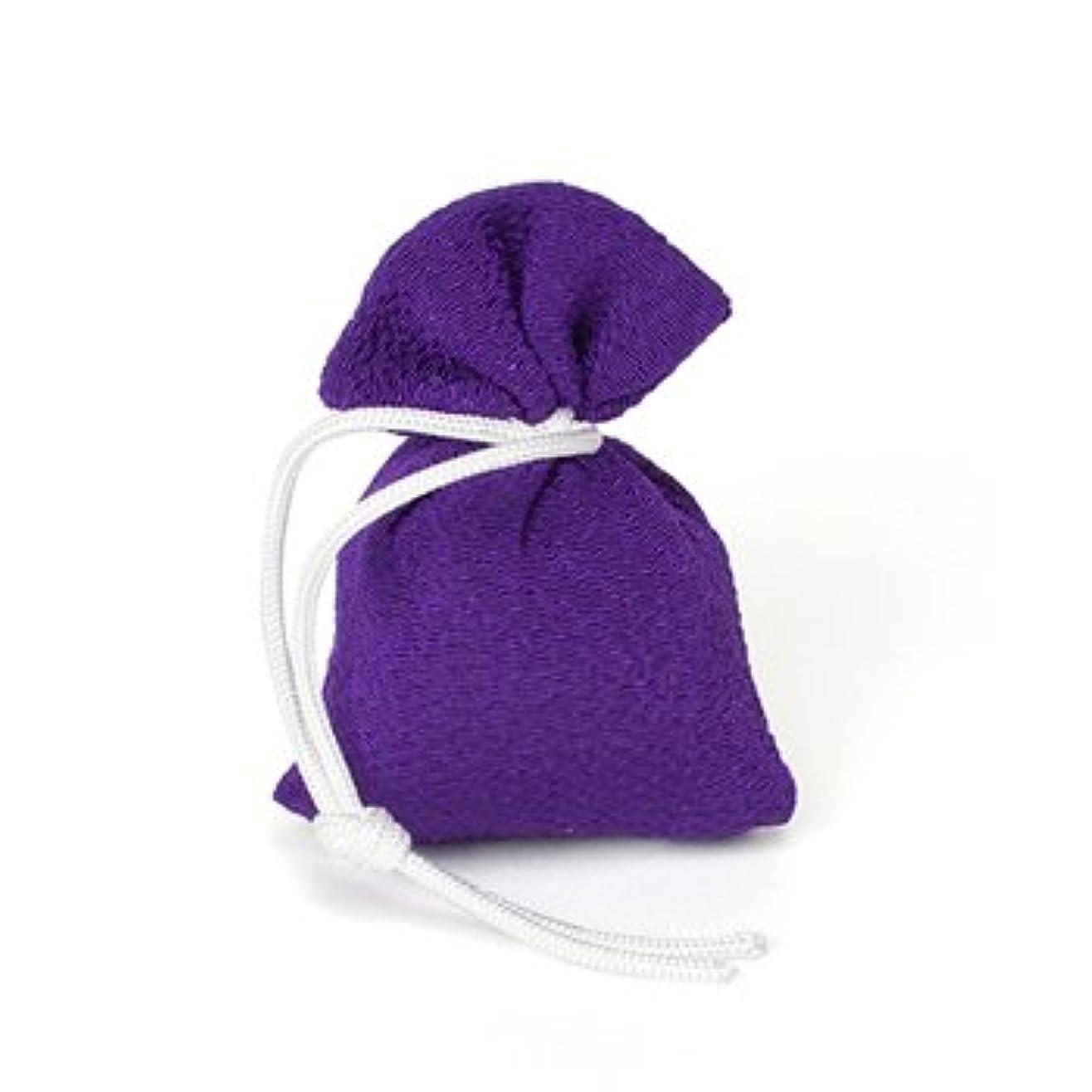 認証地質学軽く松栄堂 匂い袋 誰が袖 上品(無地) 1個入 (色をお選びください) (紫)