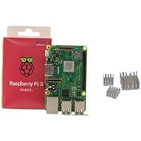 Raspberry Pi 3 Model B+正規代理店品 element14 UK製(ヒートシンク付き)