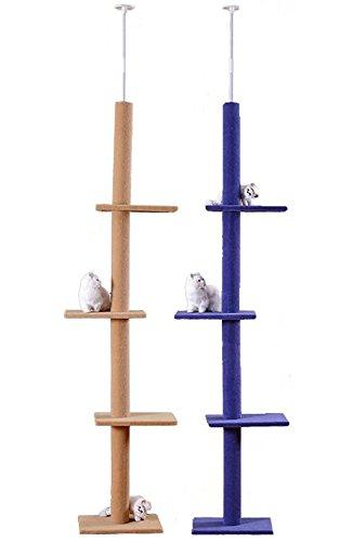 猫 キャット タワー かわいい デザイン ポール 自由気ままな猫にぴったり のびのび遊べる キャットタワー (ベ...