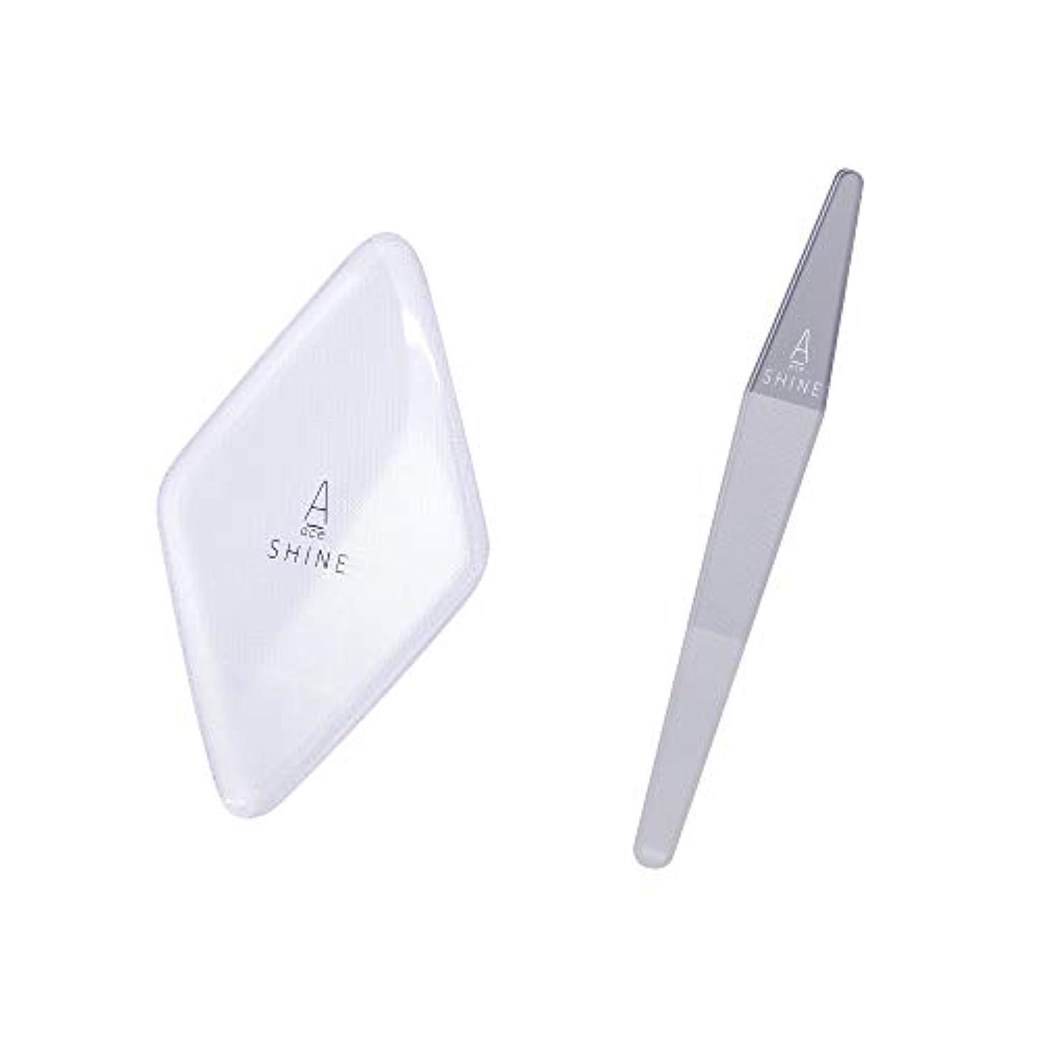 三番とは異なり仮説お得セット かかと角質削り クリア 爪磨き クリア A SHINE エースシャイン ガラス製