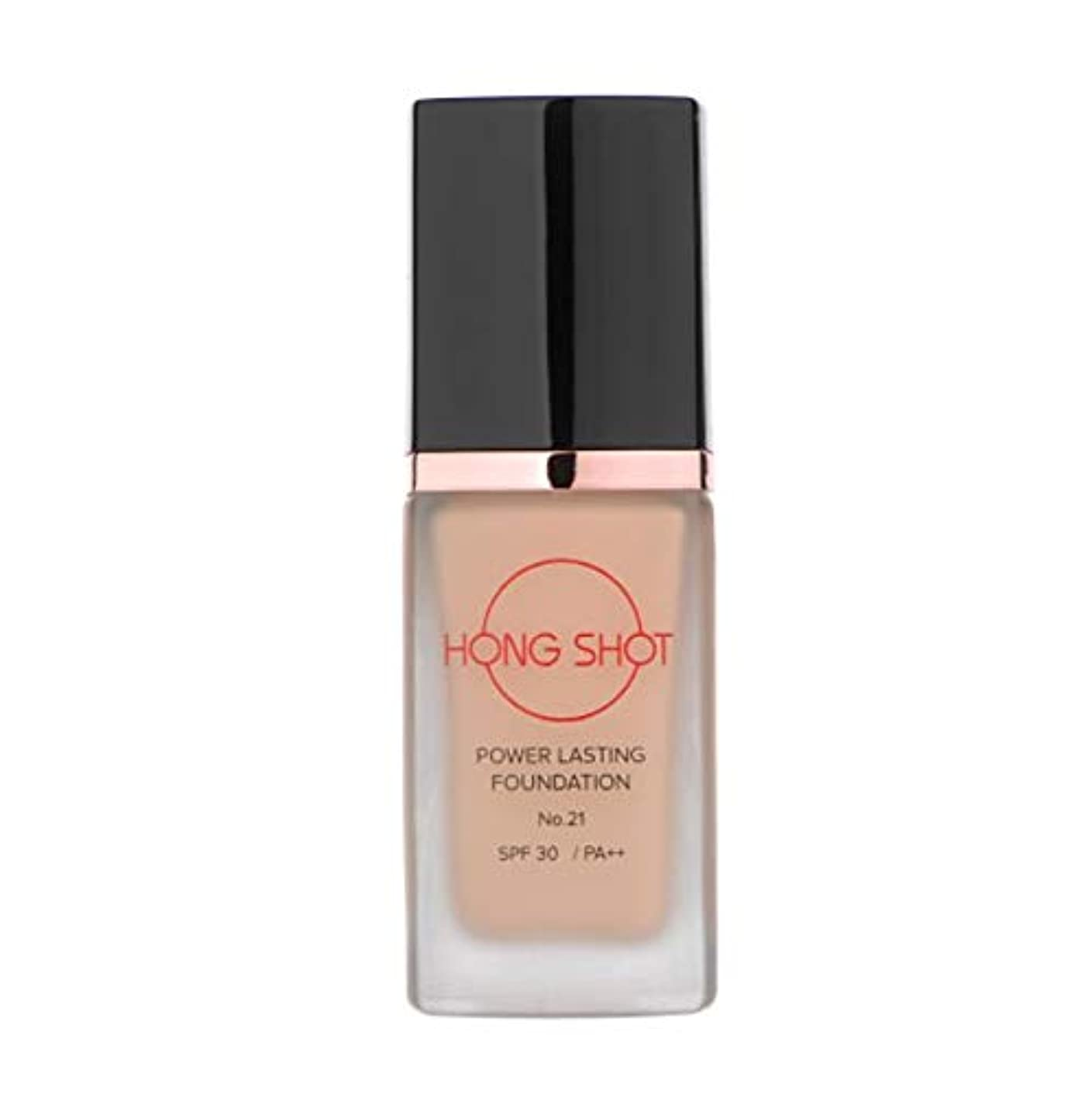 夕方複製郊外HONGSHOT POWER LASTING FOUNDATION SPF30/PA++ Hongjinyoung Foundation (No.21)