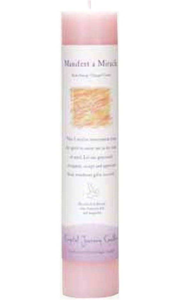 硬化する疑わしい登場Crystal Journey Herbal Magic Pillar Candle - Manifest a Miracle by Crystal Journey