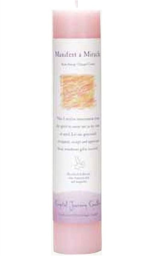 ロック休暇神経Crystal Journey Herbal Magic Pillar Candle - Manifest a Miracle by Crystal Journey