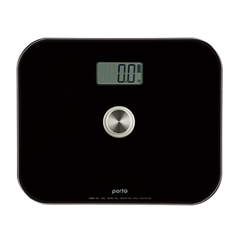 神学校形容詞ペンツカモトエイム ポルト 電池のいらないエコ体重計 Lサイズ(ブラック) AIM-WS01(BK)