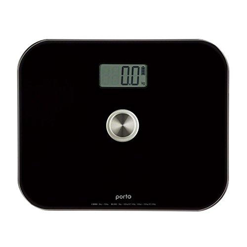 ツカモトエイム ポルト 電池のいらないエコ体重計 Lサイズ(ブラック) AIM-WS01(BK)