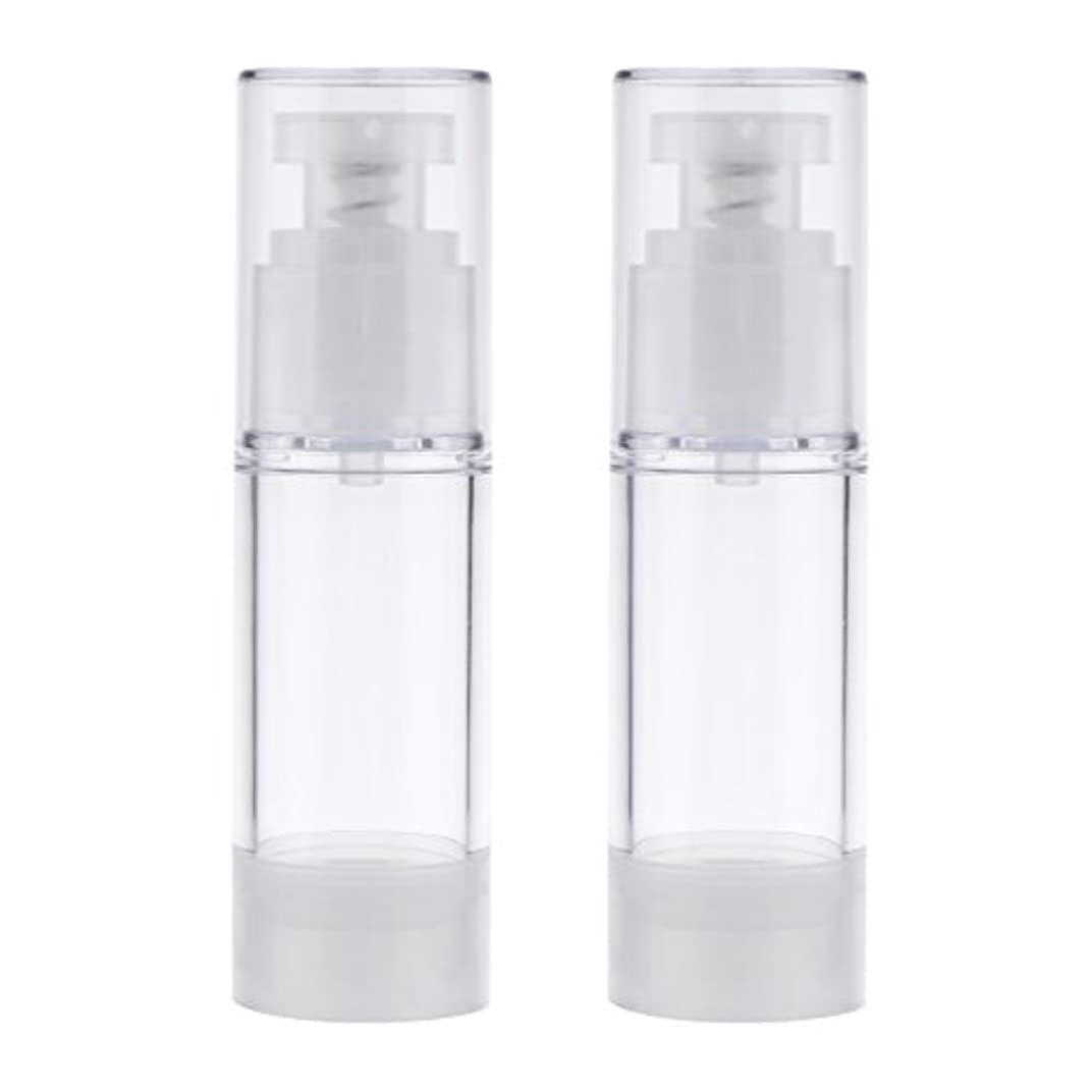 好色なほのか退化する2個 空ボトル ポンプボトル ローション コスメ ティック クリームボトル エアレスポンプディスペンサー 3サイズ選べる - 30ml