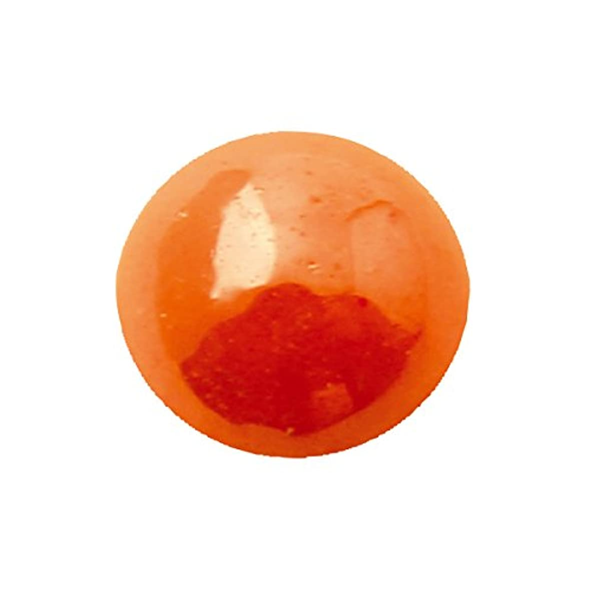 受賞聖職者真鍮グラスパールラウンド 4mm(各30個) オレンジ