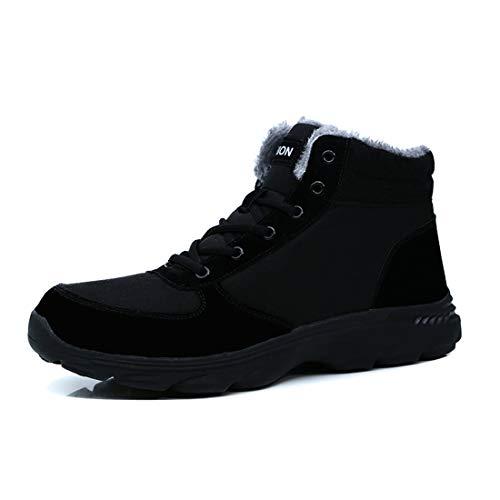 [RDGO] スノーブーツ メンズ ブーツ 綿靴 雪靴 ウィンターブーツ ワークブーツ アウトドアシューズ ウォーキングシューズ カジュアルシューズ 防寒 黒 褐色 青 大きいサイズ メンズ ブーツ