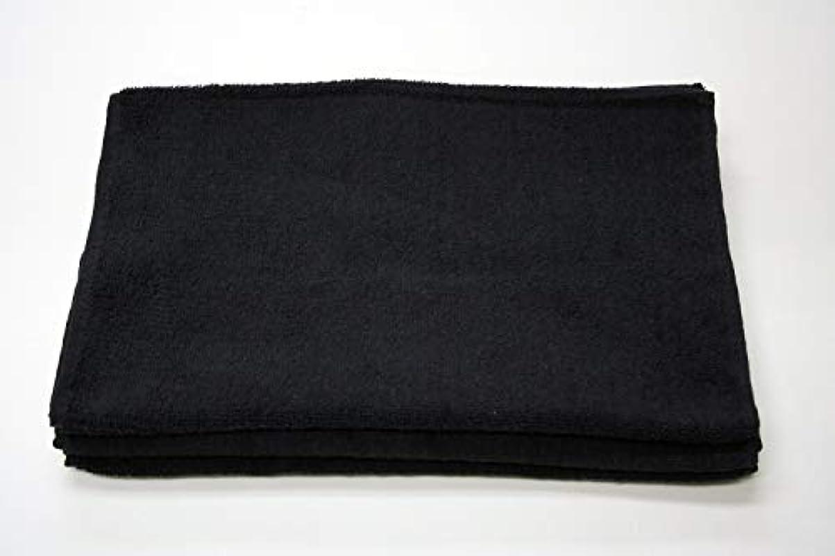 船尾について倒錯スーパータオル New ブリーチフリー 210匁 【12枚入り】 (ブラック)