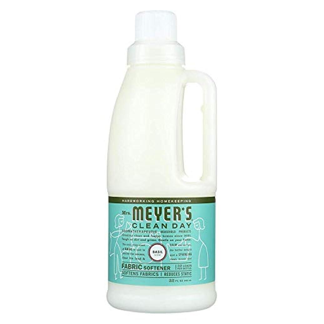 こする時々時々最小化するMrs. Meyers SCジョンソンワックス14334液体柔軟仕上げ剤、バジル、32オンス - 数量6