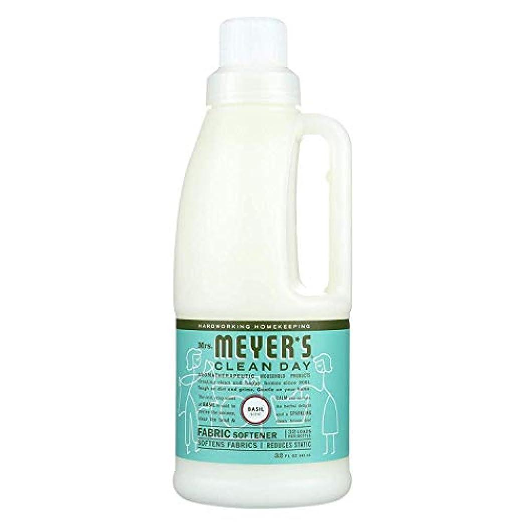 ヒット気味の悪いカフェMrs. Meyers SCジョンソンワックス14334液体柔軟仕上げ剤、バジル、32オンス - 数量6
