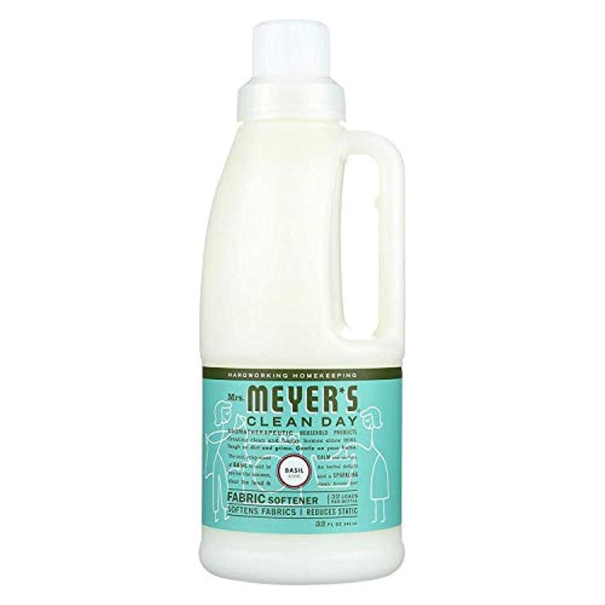 静脈庭園会社Mrs. Meyers SCジョンソンワックス14334液体柔軟仕上げ剤、バジル、32オンス - 数量6