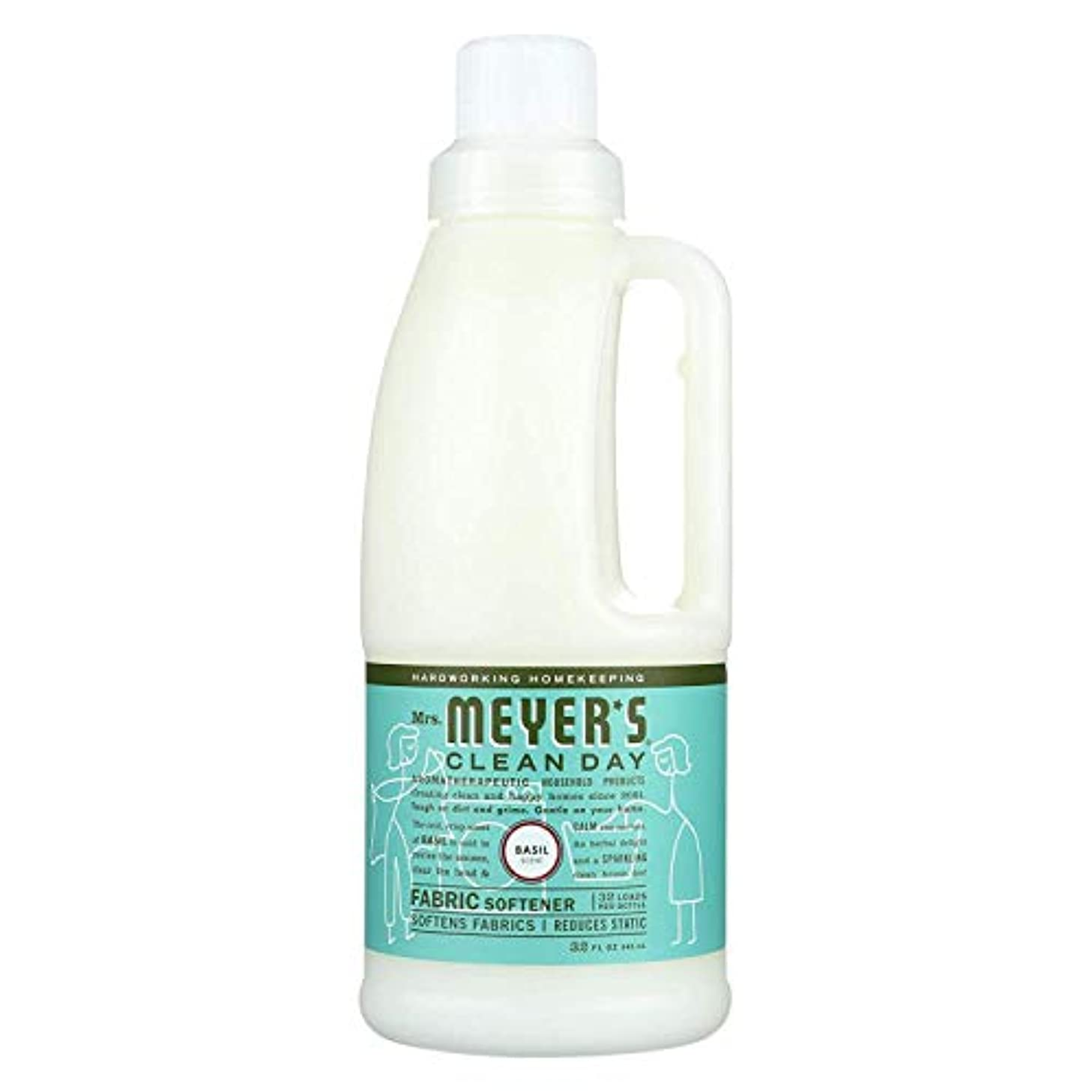 反逆者血まみれ人工Mrs. Meyers SCジョンソンワックス14334液体柔軟仕上げ剤、バジル、32オンス - 数量6