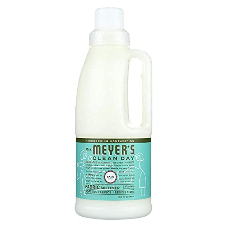 入力膨らみ彼女はMrs. Meyers SCジョンソンワックス14334液体柔軟仕上げ剤、バジル、32オンス - 数量6