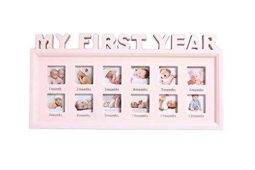 BABY tree ベビーフレーム 赤ちゃん 写真立て 12ヶ月 フォトフレーム ピンク