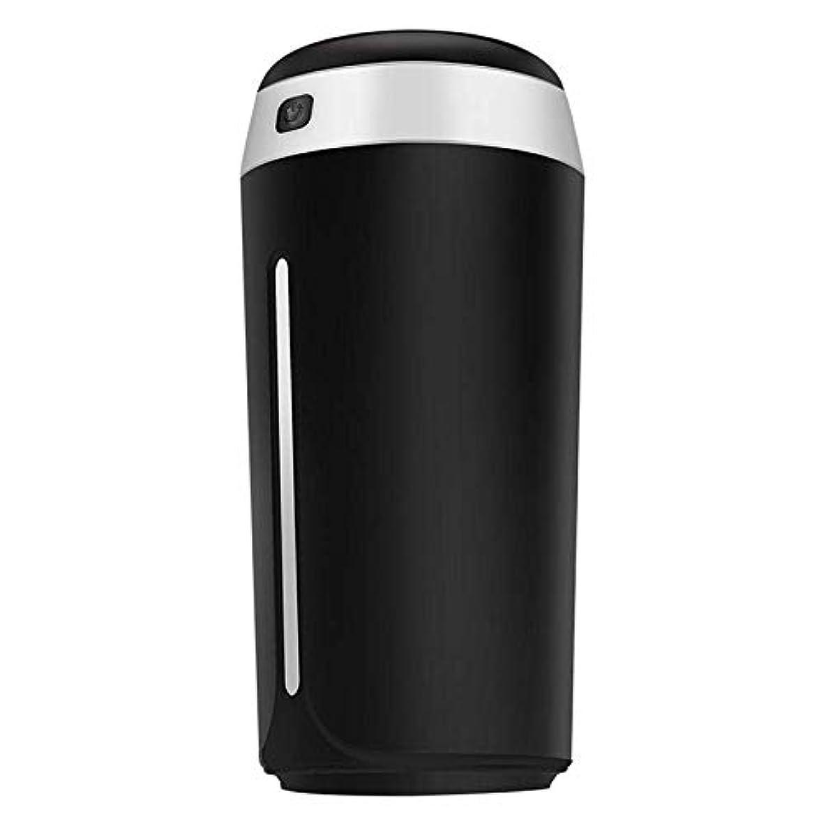 ぐるぐる痴漢川SOTCE アロマディフューザー加湿器内蔵の水位センサー満足のいく解決策ソフト変色のUSB電源の低電圧入力 (Color : Black)