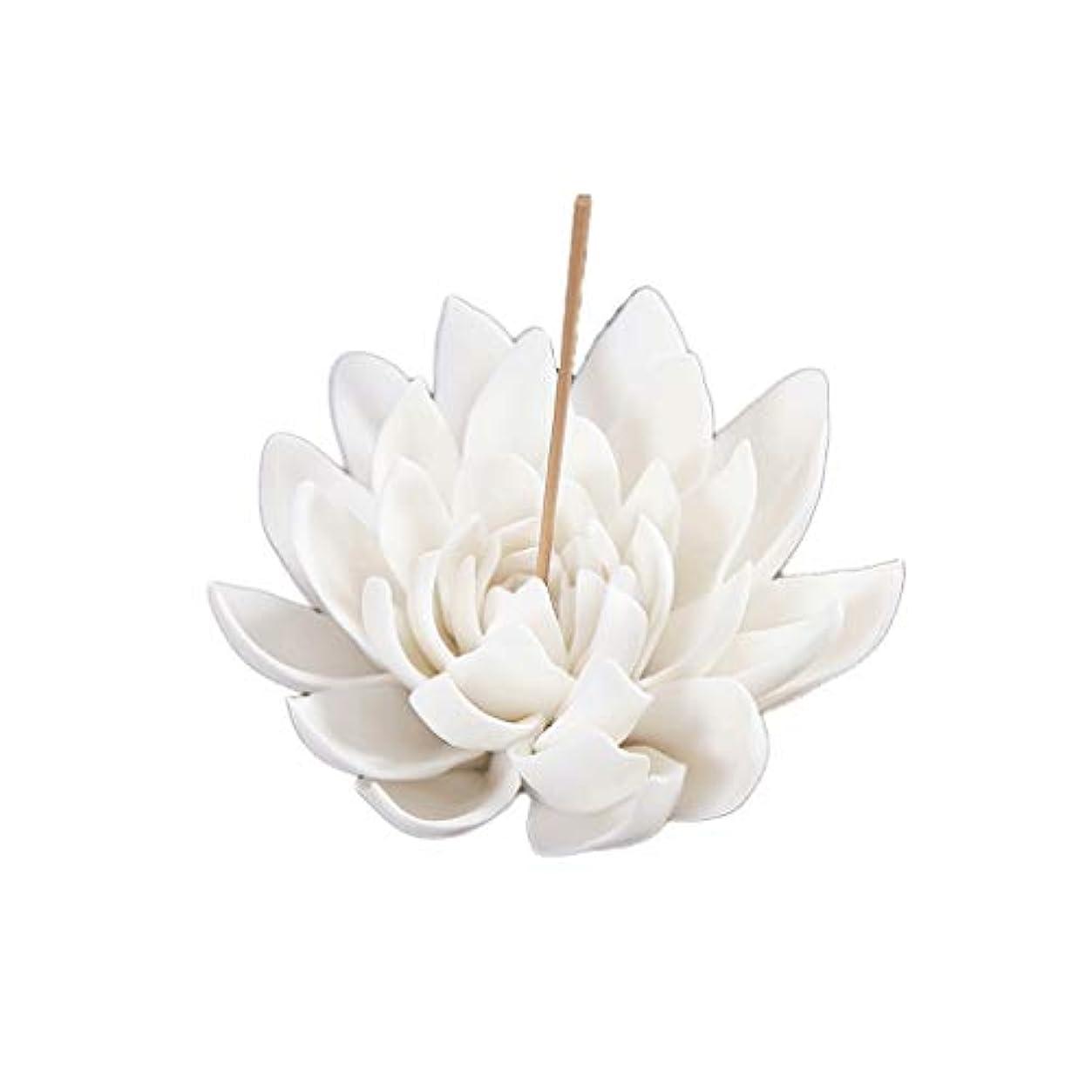 立派なアセ手伝うセラミック蓮香バーナー家の装飾香スティックホルダー仏教アロマセラピー香炉ホームオフィス用 芳香器?アロマバーナー (Color : B)