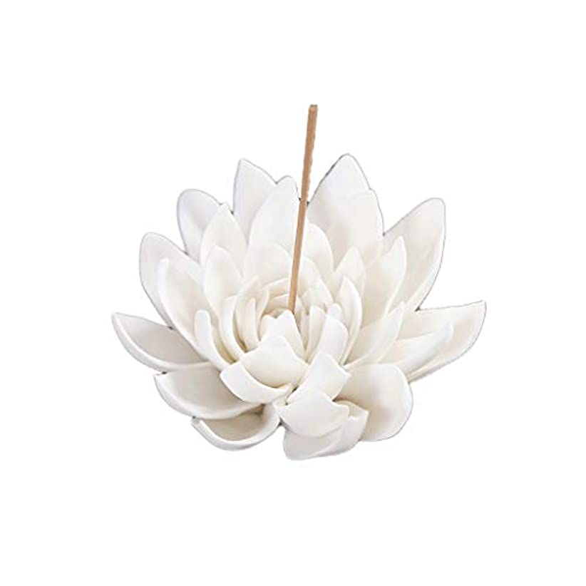 セラミック蓮香バーナー家の装飾香スティックホルダー仏教アロマセラピー香炉ホームオフィス用 芳香器?アロマバーナー (Color : B)