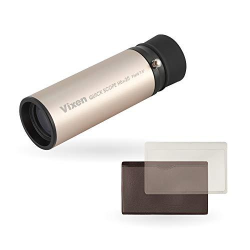 ビクセン(Vixen) 単眼鏡 クイックスコープシリーズ 美術鑑賞セット Q6x20 6倍 明るさ 10.9 71047-8