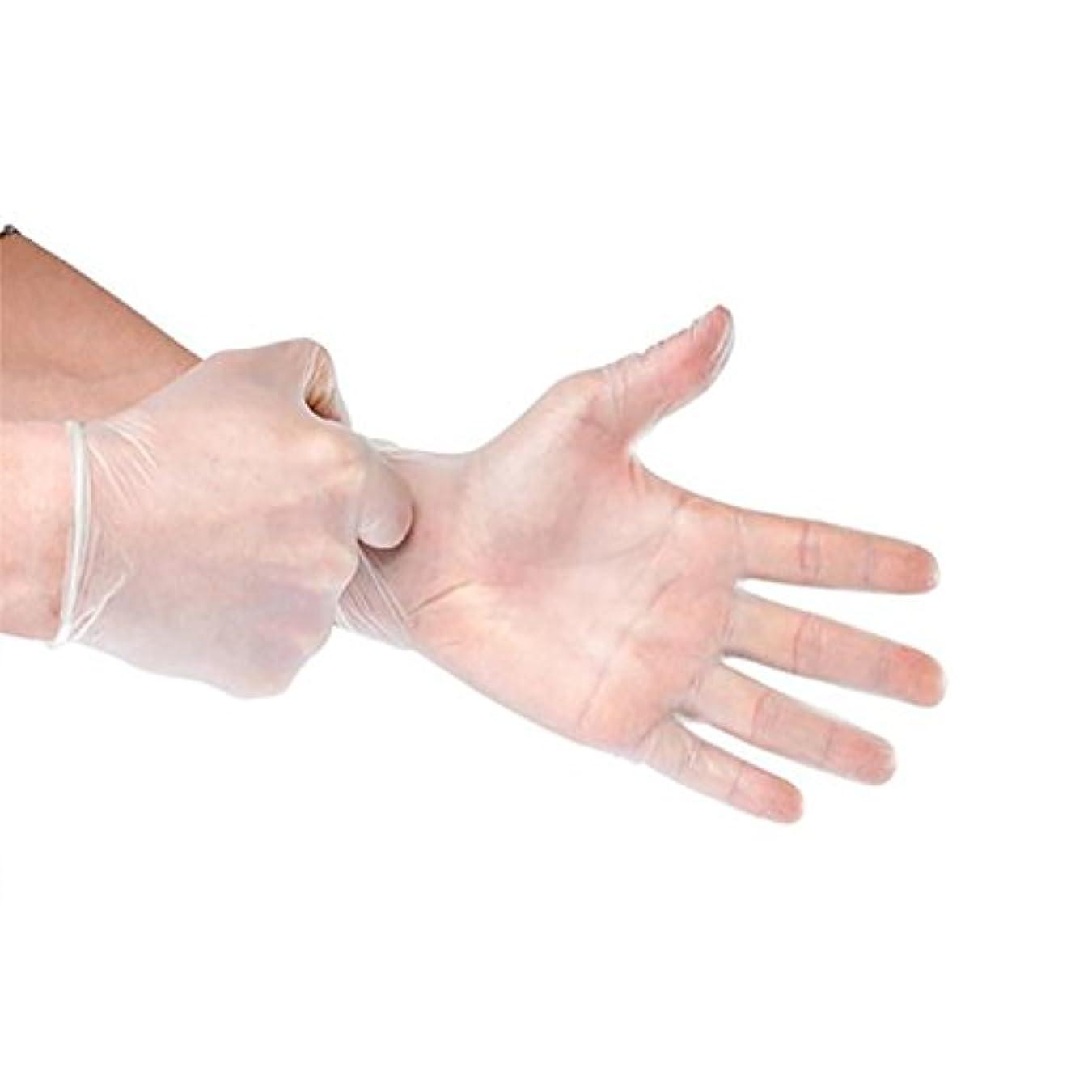 申請中高度な有益Cozyswan 使い捨て手袋 100枚入り 粉なし検査 料理 絵 清潔 掃除 ペット管理 size M (透明)