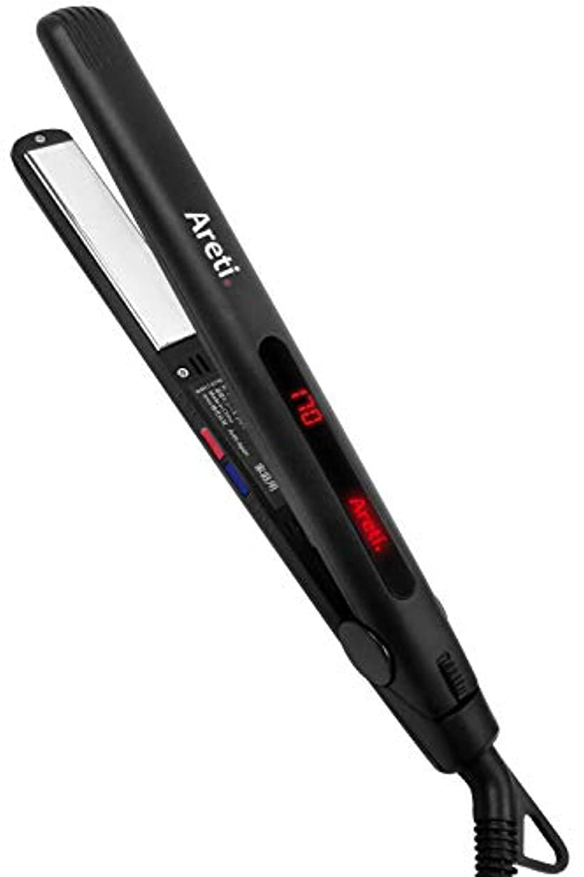 データ入手しますトロイの木馬Areti(アレティ) 20mm ストレート カール ヘアアイロン ART.i679BK (ブラック)