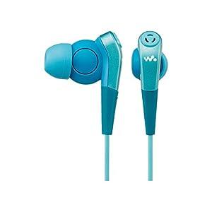ソニー SONY イヤホン MDR-NWNC33 : ノイズキャンセリング機能搭載ウォークマン専用 カナル型 ブルー MDR-NWNC33 L