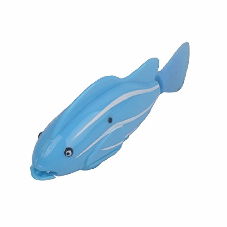 HuaQingPiJu-JP ベビーバスおもちゃ水泳水電気ライトクラウドフィッシュスカイブルー