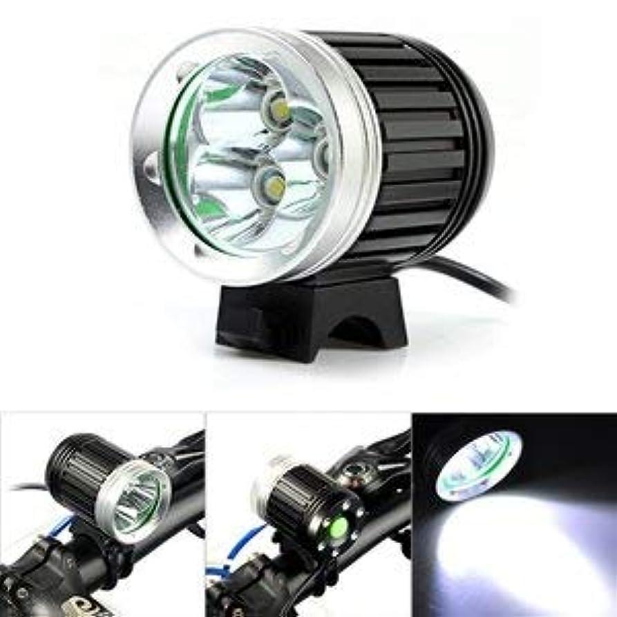 ブラウン集める不十分な3LED高輝度ライト 外部バッテリー充電接続式 アウトドア用ヘッドライト自転車用ヘッドライト