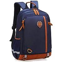 School Backpack Kids Schoolbag Orthopedic Backpack Schoolbags for Boys Girls Design Schoolbags Children School Bags Mochila Escolar (Color : Dark Blue, Size : -)