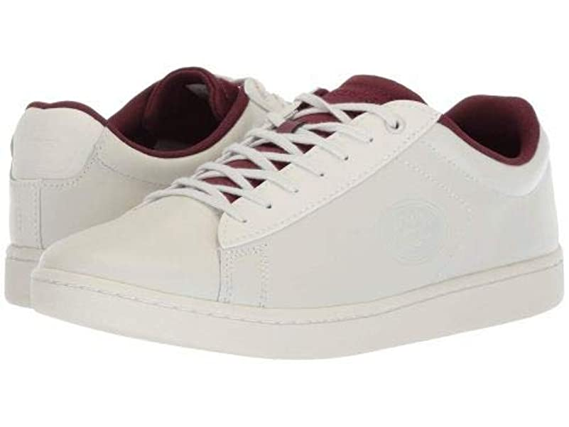 解釈する意義もう一度Lacoste(ラコステ) レディース 女性用 シューズ 靴 スニーカー 運動靴 Carnaby Evo 418 2 - Off-White/Burgundy [並行輸入品]