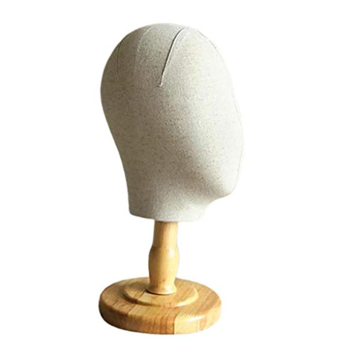 上がるクレデンシャル合図SM SunniMix マネキンヘッド ディスプレイ コルクキャンバス 帽子 ウィッグ スカーフ かつら スタンド