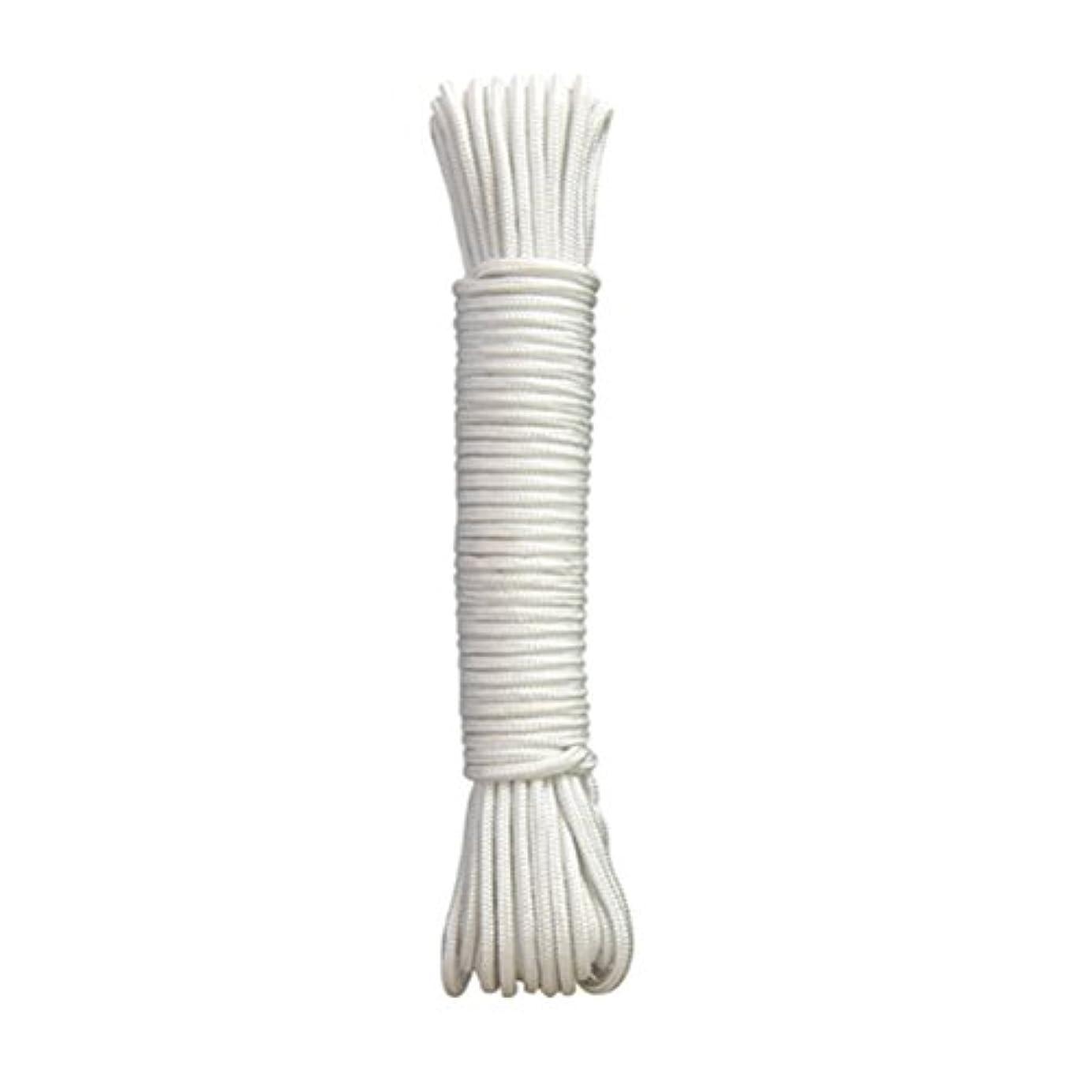 お誕生日壊滅的な発表するWINOMO ナイロンロープ パラコード テントロープ 洗濯ロープ 6mm 50m キャンプ アウトドア用 多用途ロープ 白