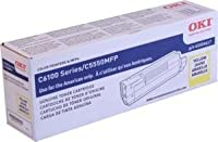 Oki C5550 MFP Series Yellow Toner, 5000 Yield - Genuine Orginal OEM toner by OKI
